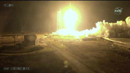 Launch of Antares Rocket with Cygnus NG-10 from Wallops