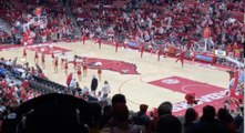 Arkansas fans call the Hogs prior to tip of Arkansas vs Indiana