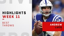 Andrew Luck's best throws against the Titans | Week 11