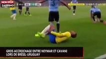 Gros accrochage entre Neymar et Cavani lors de Brésil-Uruguay (vidéo)