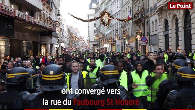 À Paris les gilets jaunes tentent de se rendre à l'Élysée
