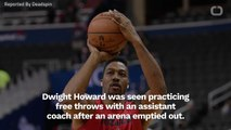 Dwight Howard Gets Insulted While Practicing Free Throws