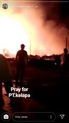 Pabrik Kelapa PT Saricotama Indonesia Terbakar