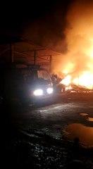 Kebakaran pabrik kelapa di Kundur Kepulauan Riau