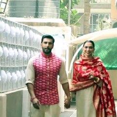Deepika And Ranveer  reach home in Mumbai after wedding