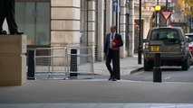 Dominic Raab arrives at the BBC following Brexit resignation
