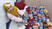 ابتسام صوت ملائكي عمره 9 سنوات يبيع الحلوى بالشارع: نفسي أعالج أبويا