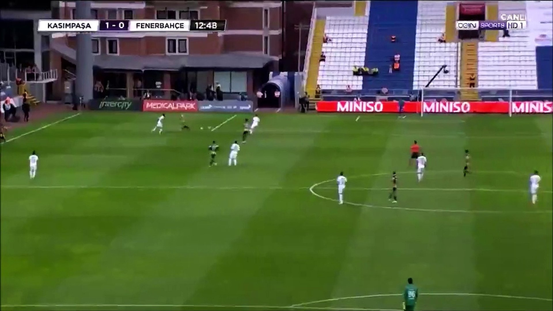 Kasimpasa 1-0 Fenerbahçe - Harun Tekin funny own goal - video dailymotion