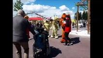 carine de giacomi devient la marraine de la nouvelle mascotte du parc spirou, le chien bill