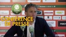 Conférence de presse RC Lens - Clermont Foot (1-0) : Philippe  MONTANIER (RCL) - Pascal GASTIEN (CF63) - 2018/2019
