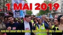 Joyeux 1 mai 2019 avec des camarades Insoumis, Syndicalistes et Gilets Jaunes