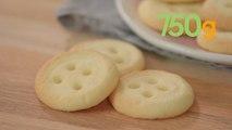 Recette des biscuits comme des boutons - 750g
