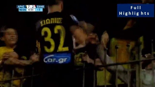 7-2 Manolis Siopis First Goal in 168 Games, his amazing celebration and the celebrations of Aris' Fans  - Aris 7-2 Xanthi - Full Replay  - 05.05.2019