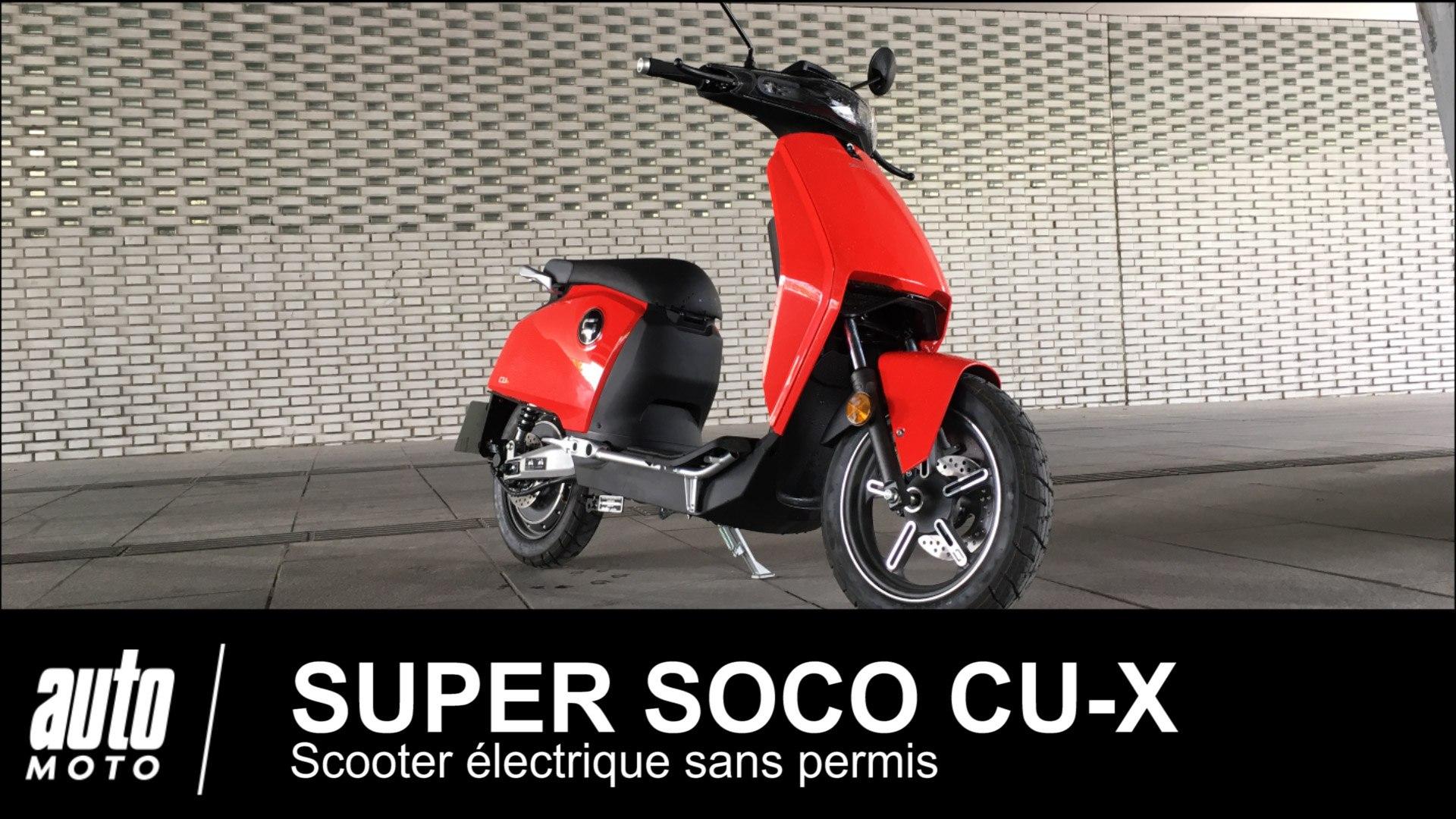 Super Soco CU-X ESSAI du scooter électrique