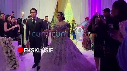 Eksklusif! Viral! Momen Indah Resepsi Pernikahan Reino-Syahrini