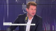 """Pourquoi les Français ne s'intéressent-ils pas plus aux Européennes ? """"Parce que la campagne n'a pas commencé. On sort du grand débat. Emmanuel Macron est en campagne permanente, visiblement pour la présidentielle de 2022"""" répond Yannick Jadot"""