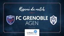 Grenoble - Agen : le résumé vidéo