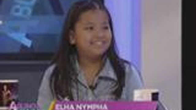 """Elha Nympha sings her dad's favorite song """"Anak"""""""