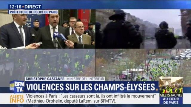 Gilets jaunes: Christophe Castaner annonce 8000 personnes mobilisées à Paris, dont 5000 sur les Champs-Elysées