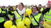 Les agriculteurs avec les gilets jaunes à Montauban