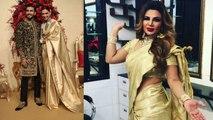 Rakhi Sawant COPIES Deepika Padukone's reception look; Watch Video | FilmiBeat