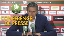 Conférence de presse RC Lens - Grenoble Foot 38 (0-0) : Philippe  MONTANIER (RCL) - Philippe  HINSCHBERGER (GF38) - 2018/2019