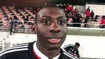 GAMBARDELLA U19 – Glaudie KINSONA réagit après la qualification du FC LYON contre l'US BRIOUDE
