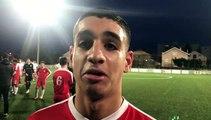 GAMBARDELLA U19 – Nassim HEROUAL réagit après la qualification du FC LYON contre l'US BRIOUDE