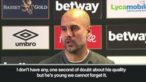 Eng Sub: Guardiola 'never had doubts' over Sane as young German helps City thrash West Ham