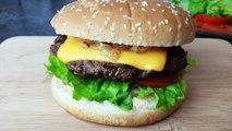 Burger | Beef burger | Homemade | Fast food recepie | Kids lunch box recepie | Burger recepie
