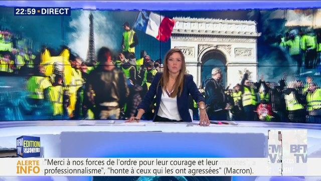 Gilets jaunes: la tension demeure sur les Champs-Elysées (3/4)