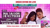 SPOT LIVE.CI- Grâce Divine en live le 02 Décembre 2018