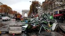 Gilets jaunes : le jour d'après sur les Champs-Elysées