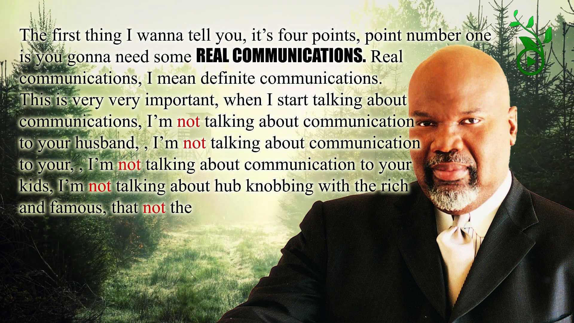 TD Jakes- Real Communications