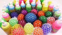 1000 Degree Knife VS Squishy Ball Slime Learn Colors Glitter Slime Clay Surprise Toys