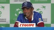 Noah à propos de Mauresmo «Je lui dirai tout ce que je sais» - Tennis - Coupe Davis (Finale)