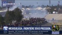 Mexique/États-Unis: des centaines de migrants ont tenté de franchir la frontière entre les deux pays
