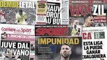 La presse catalane s'en prend à Sergio Ramos, Mesut Özil se fait chambrer en Angleterre