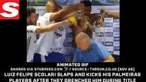 Luiz Felipe Scolari slaps and kicks his Pa...