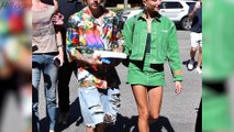 Hailey Baldwin Shows Off 'Bieber' Necklace and Major PDA With Justin Bieber!