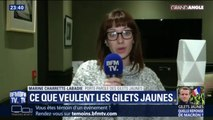 """""""Nous sommes des bénévoles qui essaient de donner la parole aux Français"""" explique cette représentante des gilets jaunes"""