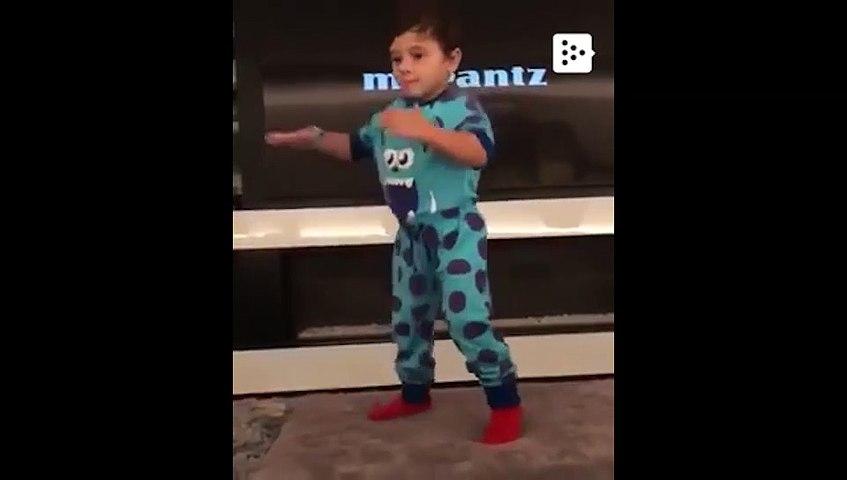 El hijo de Messi baila 'Sexy and I know it'