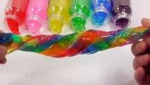 Rainbow Slime Jelly Bottle Mix Learn Colors Slime Toys Lego Gummy DIY