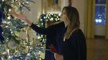 شاهد: ميلانيا ترامب تكشف عن زينة الميلاد في البيت الأبيض