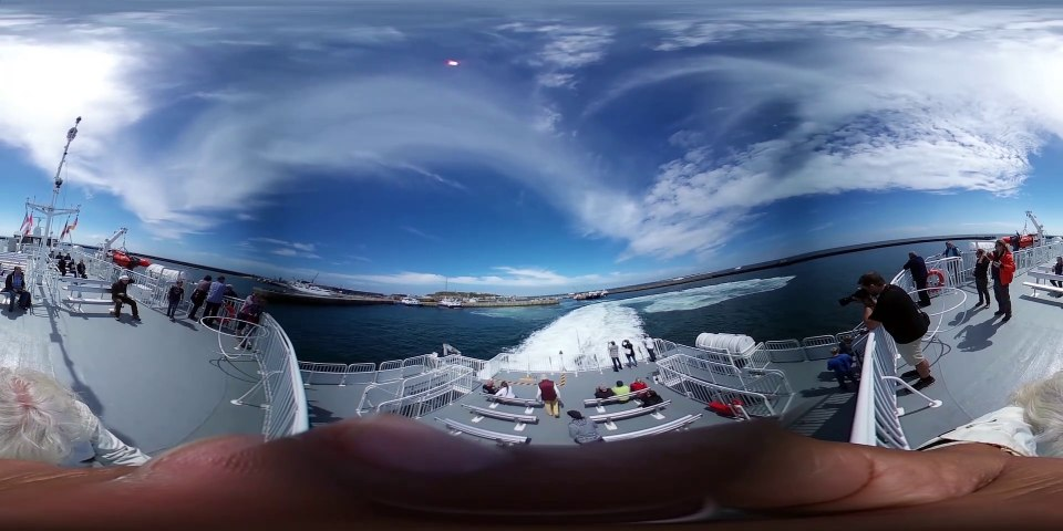 Helgoland Halunder Jet Offshore-360 Grad Video
