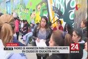 Decenas de niños se quedarían sin estudiar debido a falta de vacantes en colegios