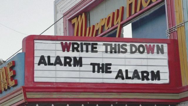 Write This Down – Alarm The Alarm