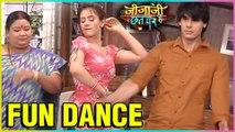 Elaichi Pancham Fun Dance in Jijaji Chhat Par Hain