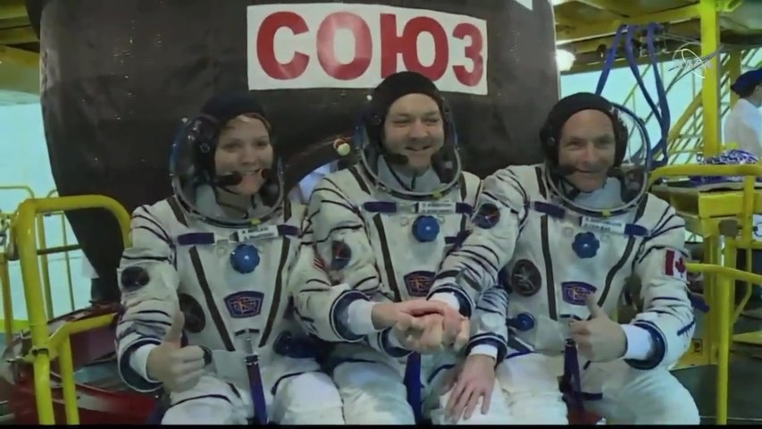 Expedition 58 Crew Prepare for Launch to Space Station