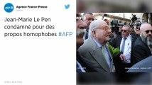 Jean-Marie Le Pen condamné pour ses propos homophobes.
